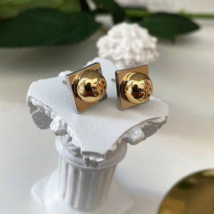 Tory Burch Unique Design Logo Earrings